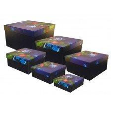"""Набор квадратных подарочных коробок """"Новогодний"""", 6шт"""