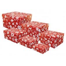 """Набор прямоугольных подарочных коробок """"Новогодний"""", 6шт"""