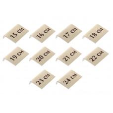 Комплект размерных табличек для браслетов, 10шт