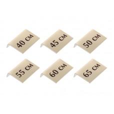 Комплект размерных табличек для цепочек, 6шт