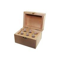 Набор пробирок для реактивов, 5мл (5шт), с воронкой в деревянном боксе