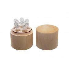 Набор пробирок для реактивов, 5 мл (5шт), в деревянном футляре