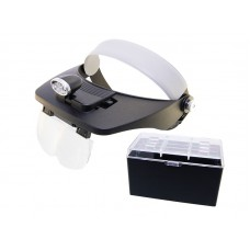 Очки бинокулярные MG81001-А 1,2х/1,8х/2,5х/3,5х с подсветкой