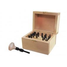 Набор обжимок для кастов Ø1-8мм (15 шт), в деревянном боксе
