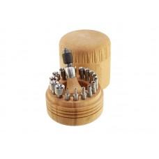 Набор обжимок Ø2,0-9,5мм (16 шт), в деревянном футляре