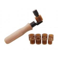 Приспособление для внутреннего крепления колец на деревянной ручке