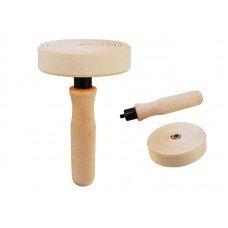 Киттшток деревянный Ø80мм со съемной ручкой