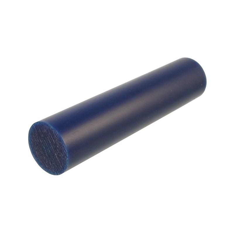 """Воск модельный """"Темно-Синий"""" (обработка на станках с ЧПУ), стержень Ø33мм"""