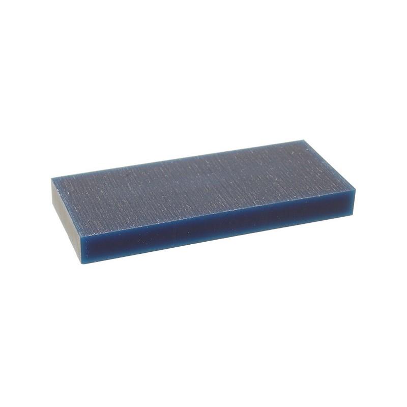 """Воск модельный """"Темно-Синий"""" (обработка на станках с ЧПУ), пластина 88х37х9,5мм"""