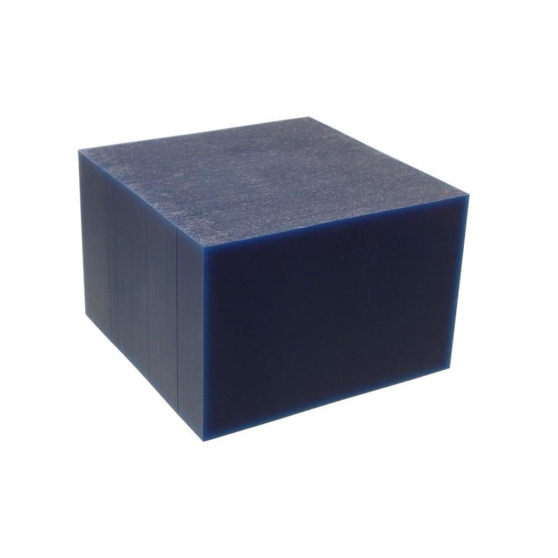 """Воск модельный """"Темно-Синий"""" (обработка на станках с ЧПУ), брусок 88х88х59мм"""