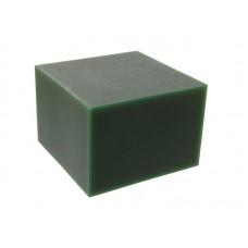 """Воск модельный """"Зеленый"""" (ручная и мех. обработка), брусок 88х88х61мм"""