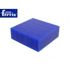 Воск модельный FERRIS, брусок 90х90х30мм, синий