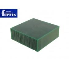 Воск модельный FERRIS, брусок 90х90х30мм, зеленый