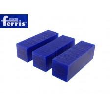 Воск модельный FERRIS, брусок 30х30х96мм (3 шт), синий