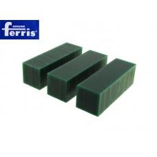 Воск модельный FERRIS, брусок 30х30х96мм (3 шт), зеленый