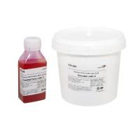 Резина жидкая силиконовая сиреневая Lasil-V, двухкомпонентная, 0,9кг