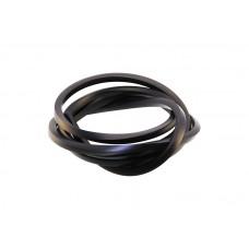 Шнур каучуковый квадрат черный, 3х3мм, 1 метр