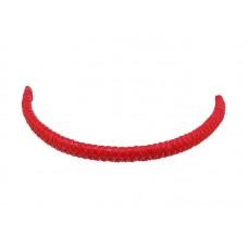 Шнур кожаный плетеный красный, 11х6мм, 23см