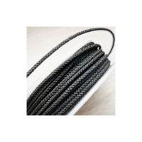 Шнур шелковый плетеный MILAN 229 черный, Ø3.0мм, 8метров