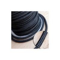 Шнур шелковый плетеный MILAN 232 черный, Ø3.0мм, 8метров