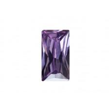Фианит аметистовый, багет, 5х2,5мм
