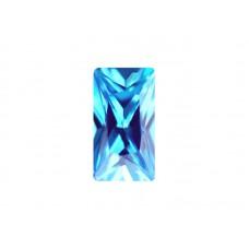 Фианит голубой, багет, 4х2мм