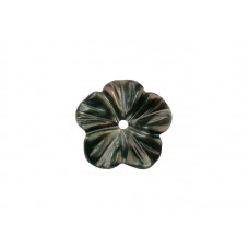 Перламутр черный, цветок, 10мм