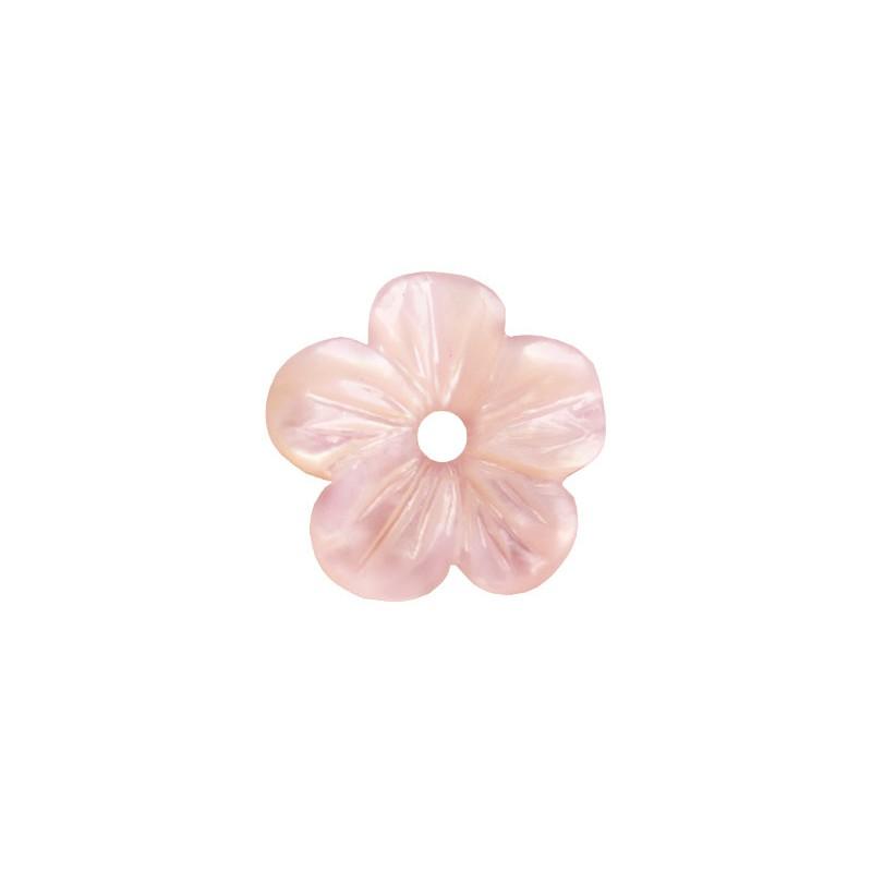 Перламутр розовый, цветок, 10мм