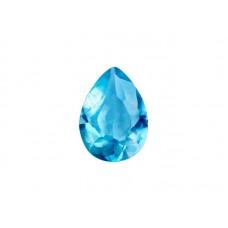 Алпанит голубой, груша, 7х5мм