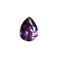 Фианит аметистовый, груша, 12х8мм