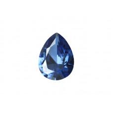 Фианит синий, груша, 12х8мм
