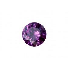 Фианит аметистовый, круг, 2,5мм
