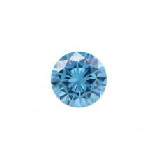 Фианит голубой, круг, 9 мм