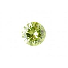 Фианит хризолитовый, круг, 4,5мм