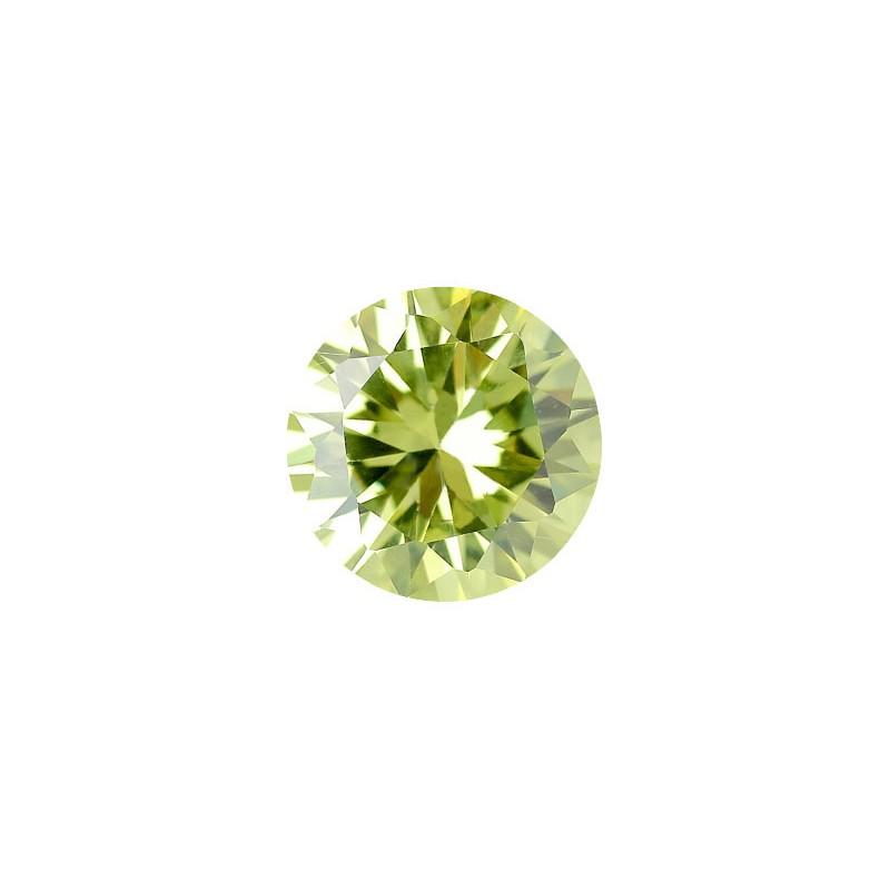 Фианит хризолитовый, круг, 7,0мм