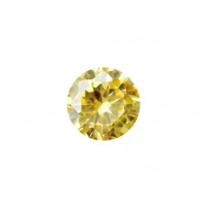 Фианит желтый, круг, 9,0мм