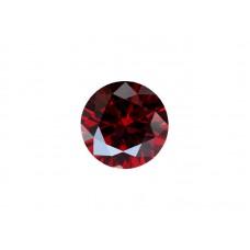 Фианит красный гранат, круг, 13мм