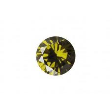 Фианит оливковый, круг, 3,25мм