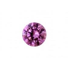 Фианит розовый, круг, 4,5мм