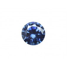 Фианит синий, круг, 9,0мм