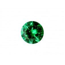Фианит зеленый, круг, 9,0мм