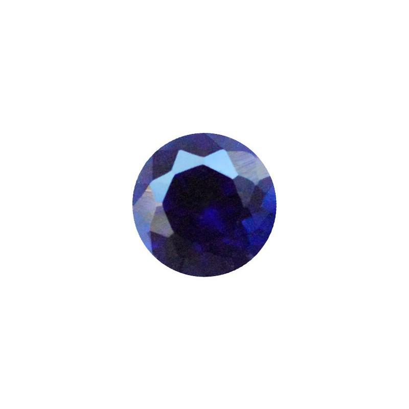 Сапфир синтетический синий, круг, 4,5мм