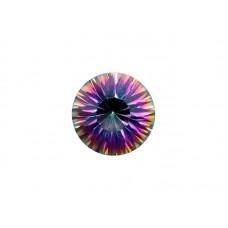 Кварц мистик фиолетовый, круг, 7,0мм
