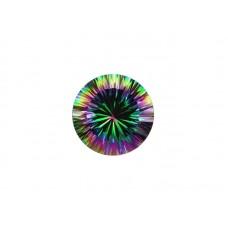 Кварц мистик зеленый, круг, 7,0мм