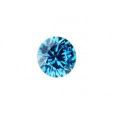 Муассанит голубой, круг, 6,0мм