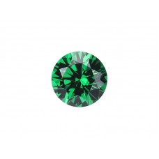 Муассанит зеленый, круг, 6,5мм