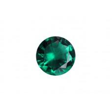 Нанокристалл изумрудный, круг, 7,0мм