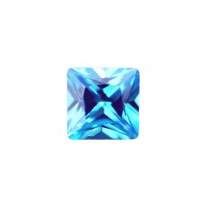 Фианит голубой, квадрат, 10х10мм