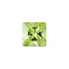 Фианит хризолитовый, квадрат, 9х9мм