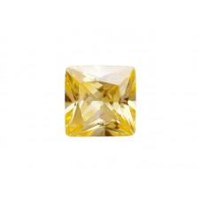 Фианит желтый, квадрат, 10х10мм